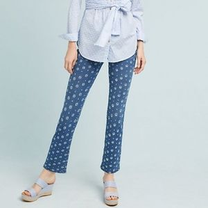 Anthropologie Pilcro Embroidered High-Rise Jeans